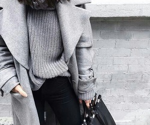 bag, grey, and black image