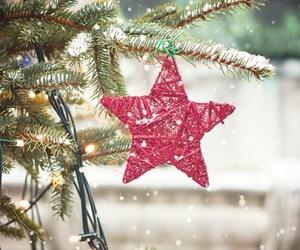 christmas, stars, and snow image