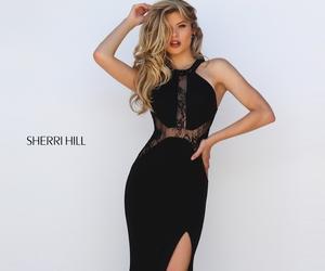 dress, sherri hill, and black image