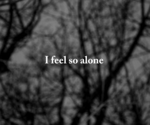 alone, sad, and black and white image