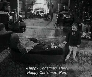 christmas, ron, and harry potter image