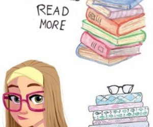 books and girls image