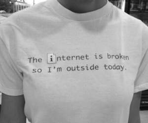 internet, black and white, and quotes image