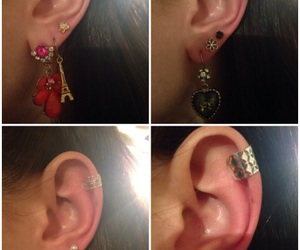 accessories, ear cuffs, and earrings image