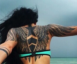 girl, tattoo, and woman image