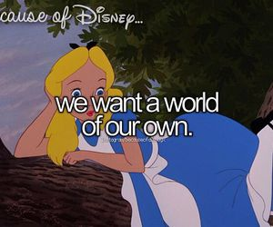 alice in wonderland, disney, and because of disney image
