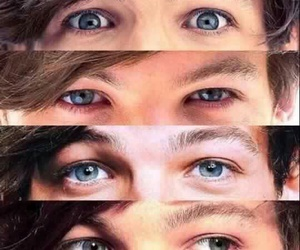 louis tomlinson, one direction, and eyes image
