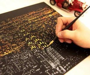 art, city, and light image
