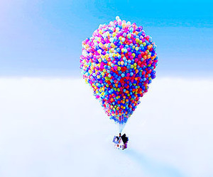 up, balloons, and sky image