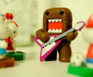 domo, guitar, and kawaii image
