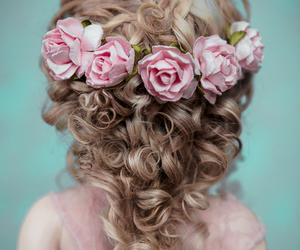 fashion, floral, and hair image