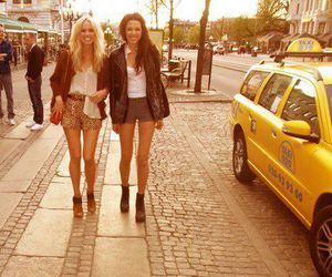 fashion, girls, and taxi image