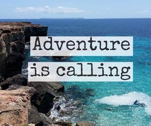 quote, sea, and adventure image