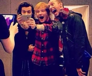 Harry Styles, ed sheeran, and Chris Martin image