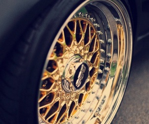 car, gold, and dope image