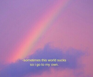 rainbow, quotes, and aesthetic image