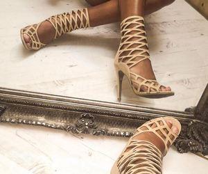 fashion, heels, and Nude image