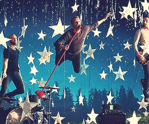 coldplay, stars, and band image