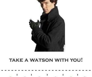 sherlock, funny, and holmes image