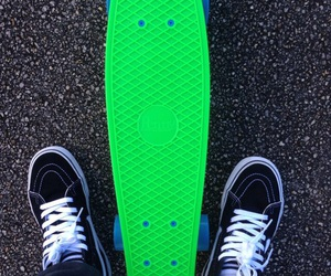 neon green and penny board image