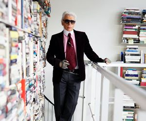karl lagerfeld, fashion, and books image