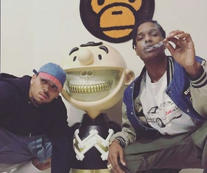 chris brown and asap rocky image