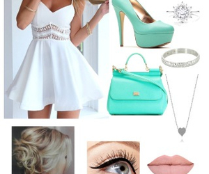 clothes, dress, and white dress image