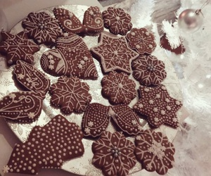 christmas, decorating, and gingerbread image