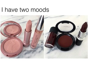 makeup, mood, and lipstick image