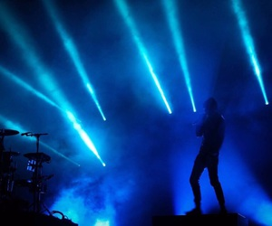 blue, glow, and lights image