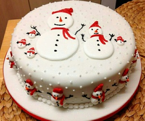 cake and christmas image