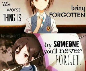 anime, forgotten, and quote image