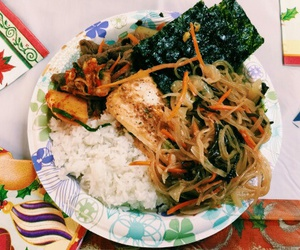 food, meal, and kimchi image