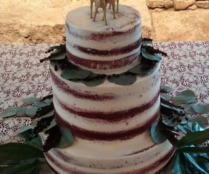 cake, deer, and wedding image
