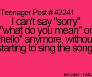 teenager post, Adele, and song image