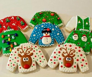 christmas, sweater, and Cookies image