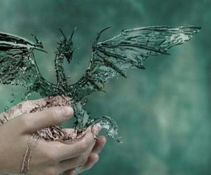dragon, water, and magic image