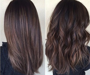 brown hair, highlights, and layers image