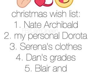 nate, christmas, and blair image