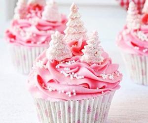 cupcake, pink, and christmas image