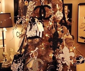 chanel, christmas, and christmas tree image