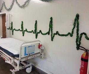hospital, christmas, and decoration image