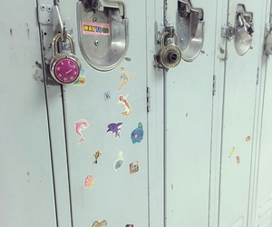blue, girl, and locker image