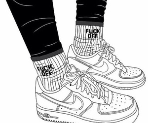 outline and nike image