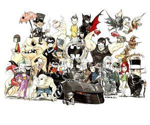 Alfred, batgirl, and cat woman image