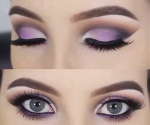 purple, eyes, and lashes image
