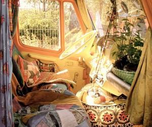 hippie, van, and car image