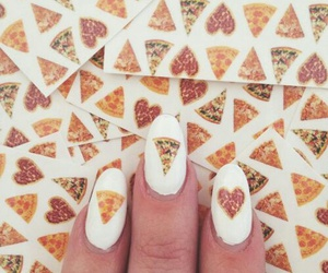 nails, pizza, and food image
