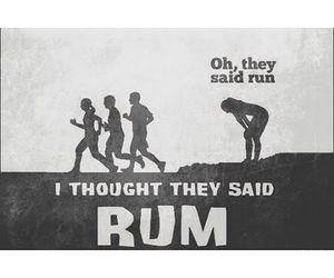 rum, run, and fitness image