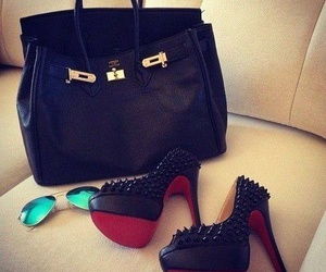 bag, shoes, and black image